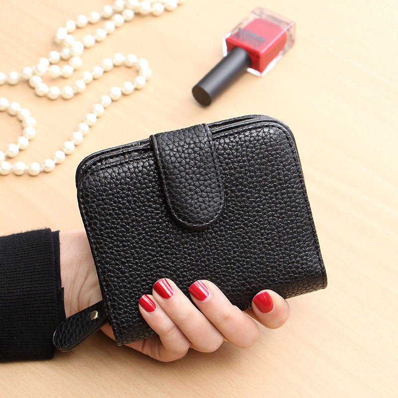 Fashion Women Mini Leather Coin Card Purse Wallet