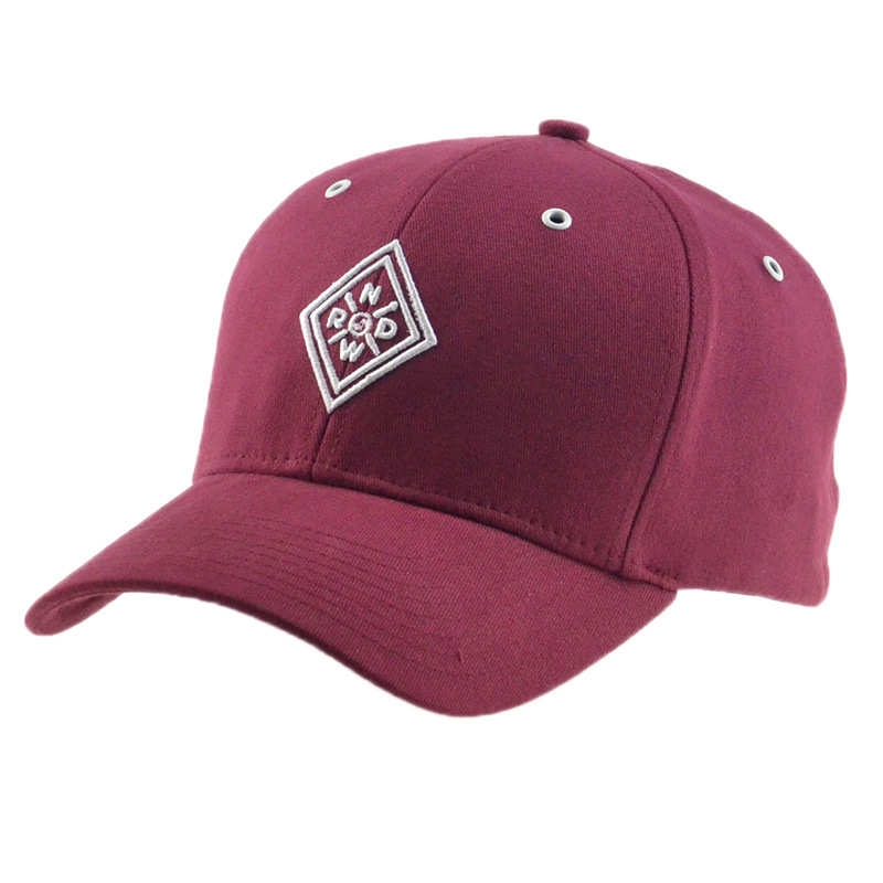 Custom Red/Black 6 Panels Cotton Hip Hop Baseball Cap Golf Cap