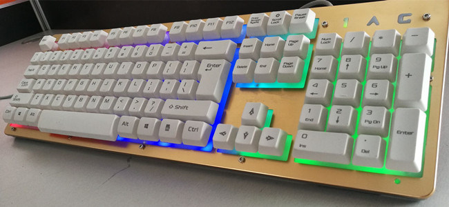 Metal Colorful Backlight Keyboard USB Djj220 Wired Key Board
