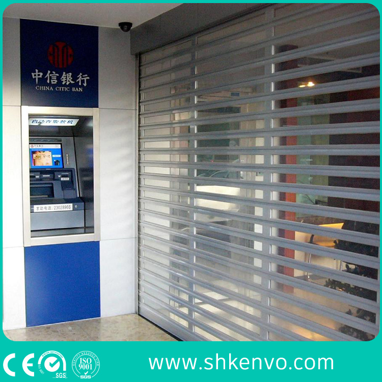 Commercial Store Automatic Transparent Clear Polycarbonate Roller Shutter