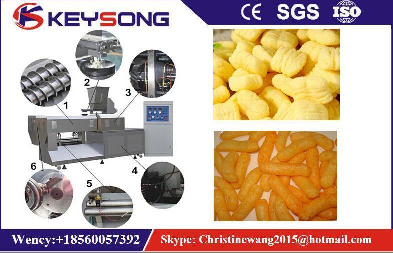 High Capacity Puff Corn Core Filling Snack Food Making Machine