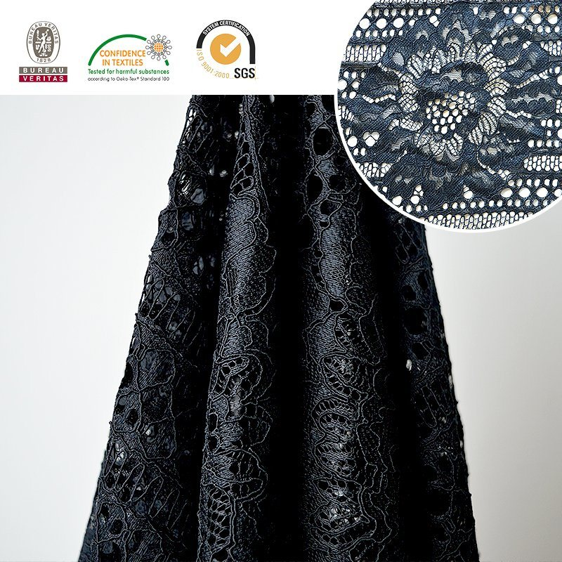 2017 High Quality Embroidery Lace Fabric Polyester Trimming Fancy Melt Polyster Lace for Garments & Home Textiles Ln10036