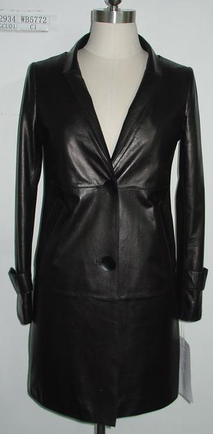 Ladies Leather Coat, Fashion Clothing, Genuine Leather Garments