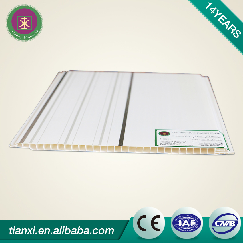 Printing Panel PVC Ceiling Tiles with Silver Line