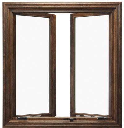Wood Grain Aluminum Casement Window