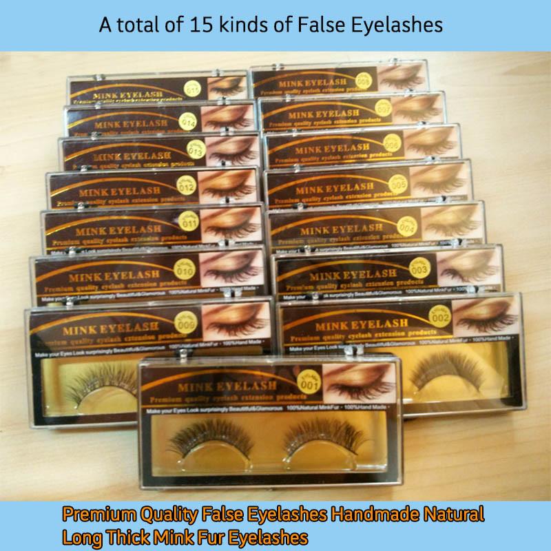 False Eyelashes Handmade Natural Long Thick Mink Fur Eyelashes Soft Fake Eye Lash