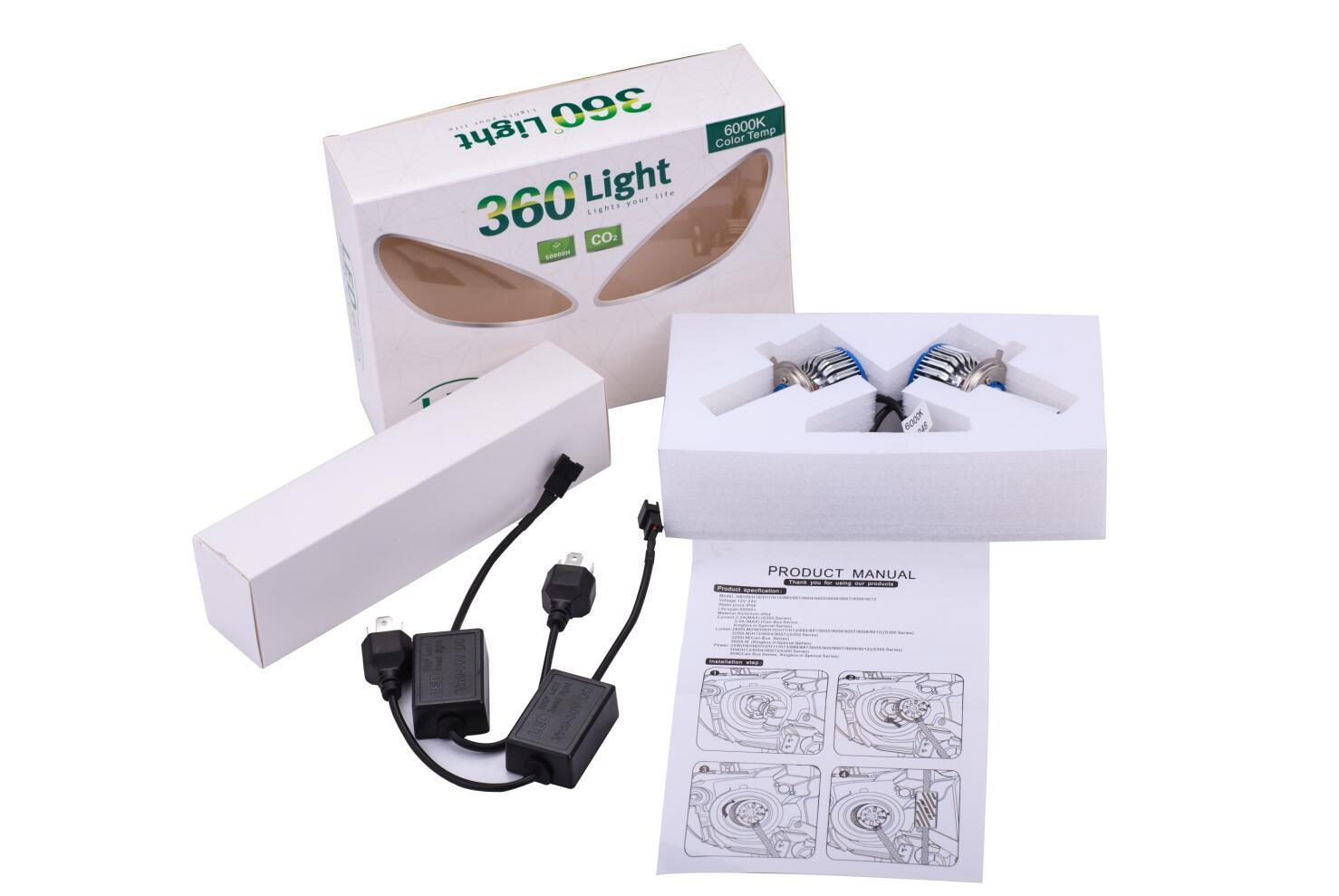 Super Bright 4500lm COB H1, H3, H4, H7, H11, 9005, 9006, 9012, D1s, D2s, D3s, D4s Car LED Headlight