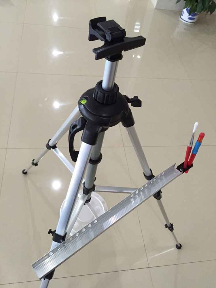 Hand-Cranking Tripod Display Stand Aluminum Easel