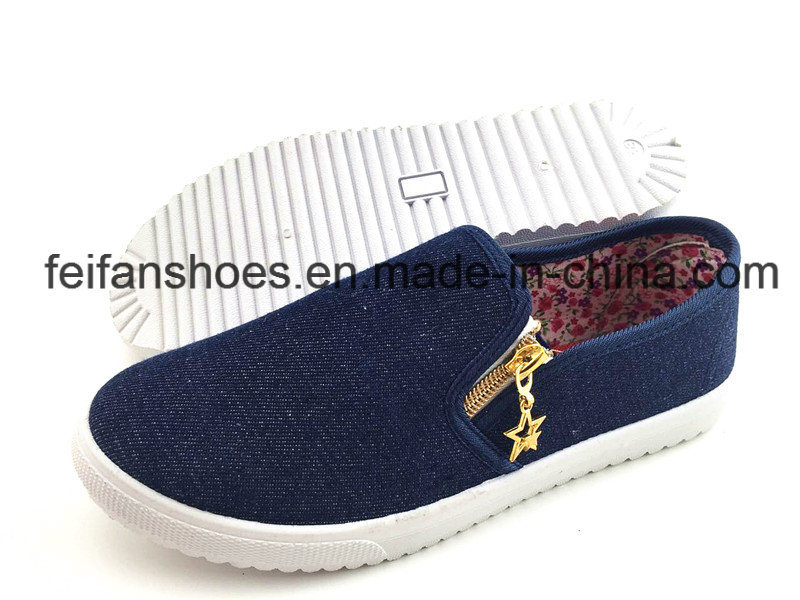 Men′s Injection Canvas Shoes Casual Footwear Shoes (FFZL1230-01)