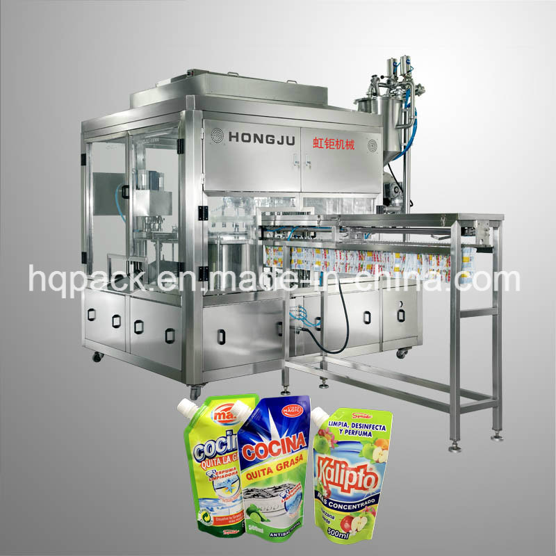 500ml Detergent Filling Machine for Side Spout Pouch