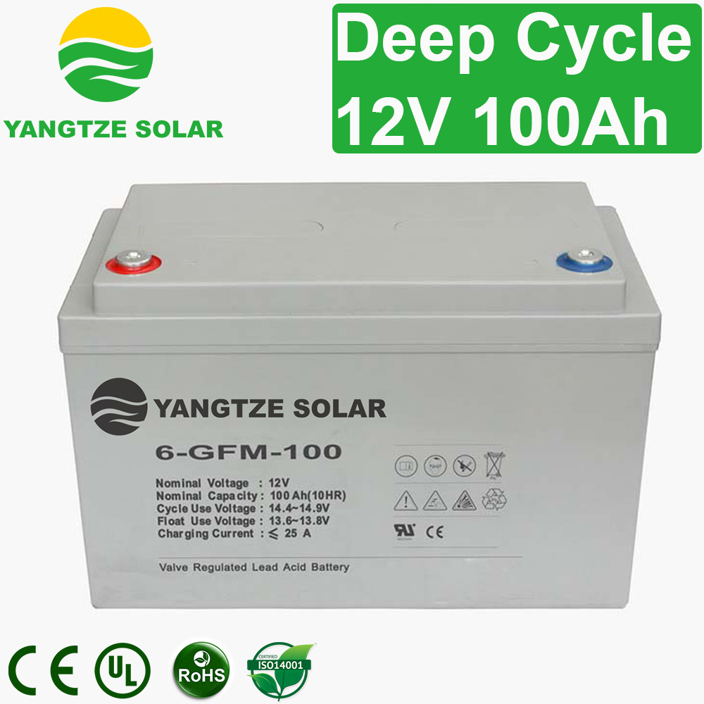 Free Shipping 12V 100ah Sealed Lead Acid Deep Cycle Battery Price