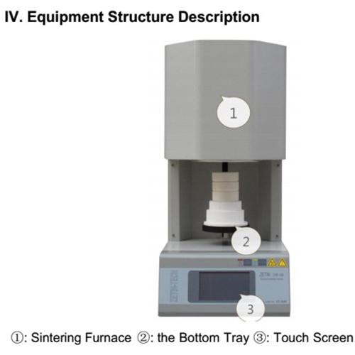 Hts1800 Dental Zirconia Sintering Furnace Oven for Dental Lab