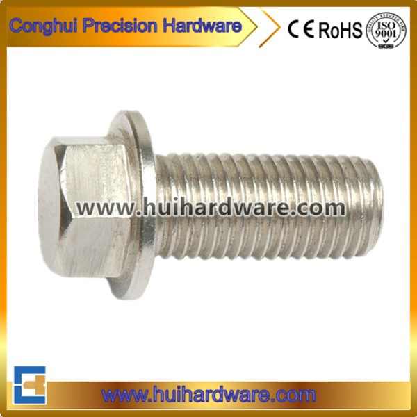 Stainless Steel 304/316/A2/A4 Hex Bolt with Flange Head