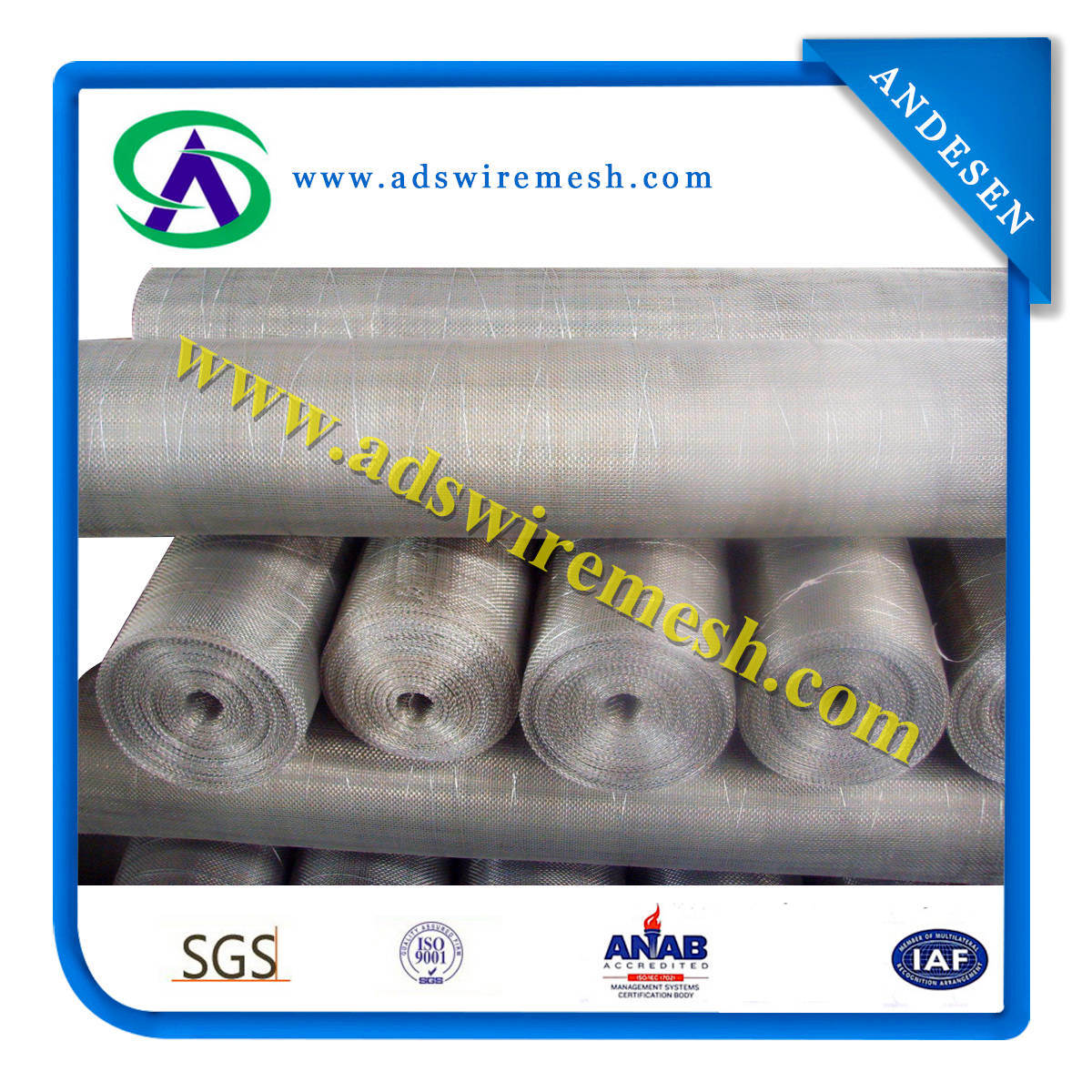 ISO9001 Certificated Factory Supply High Quality Galvanized Square Mesh with Cheap Price