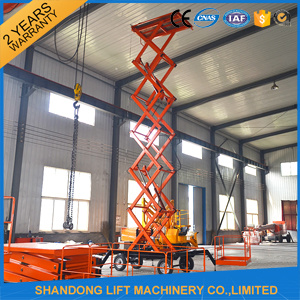 Four Wheels 14 M Mobile Hydraulic Lift