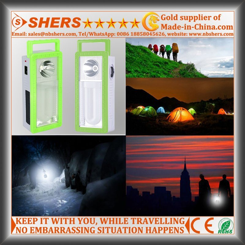 Rechargeable 22 LED Solar Emergency Light with 1W Flashlight (SH-1903B)