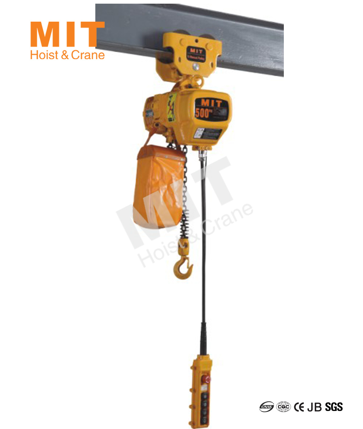 China Mit Electric Chain Hoist 0 5t With Manual Trolley