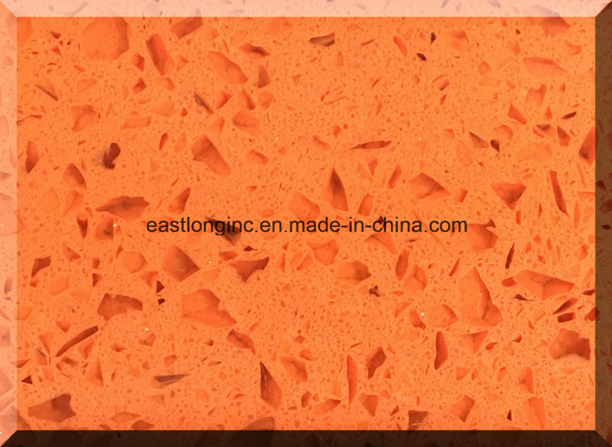 China Single Color Artificial Quartz Stone for Countertops