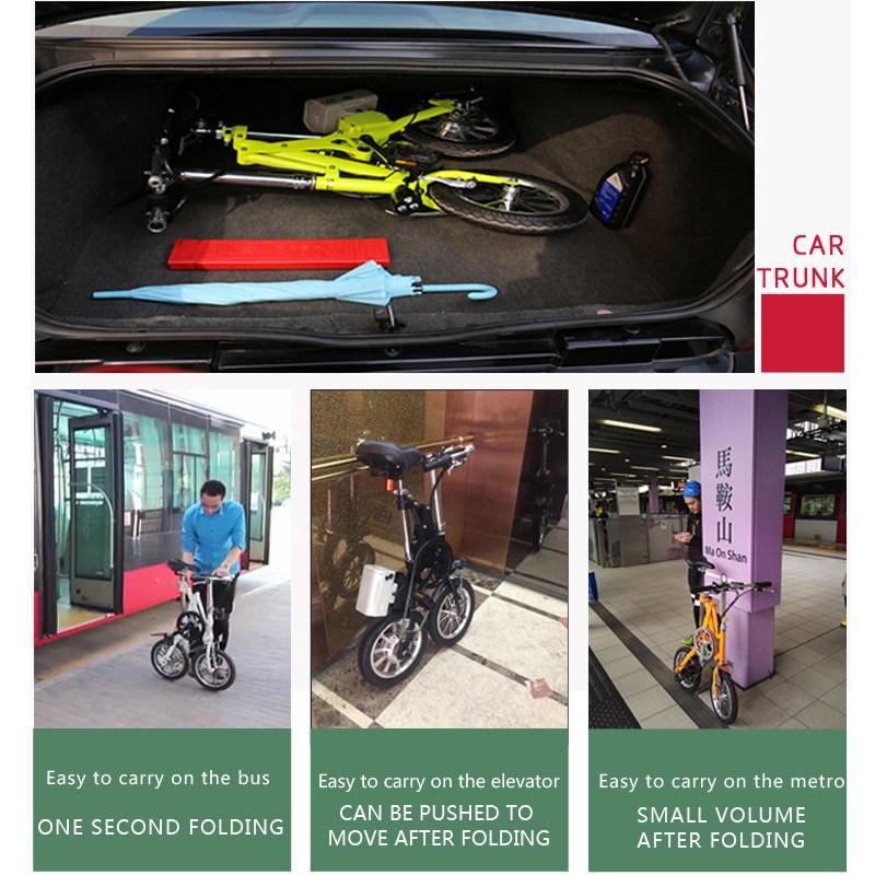 14 Inch 36V 250W Folding City Electric Bike