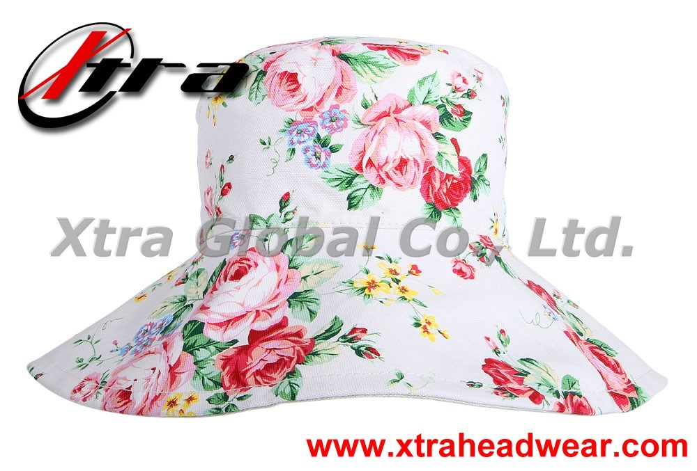 Fashion Hat with Flower Summer Sunbonnet Hats