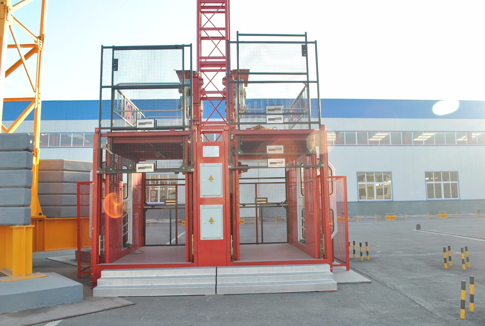 Building Lift/Double Cage Construction Hoist (SC200/200) -2tons