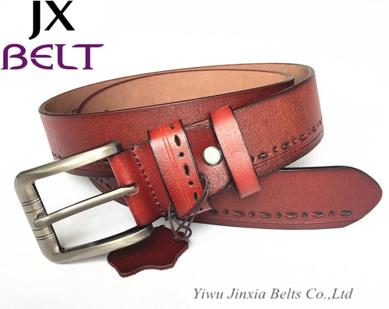 Fashion Man′s Split Cowhide Leather Belt