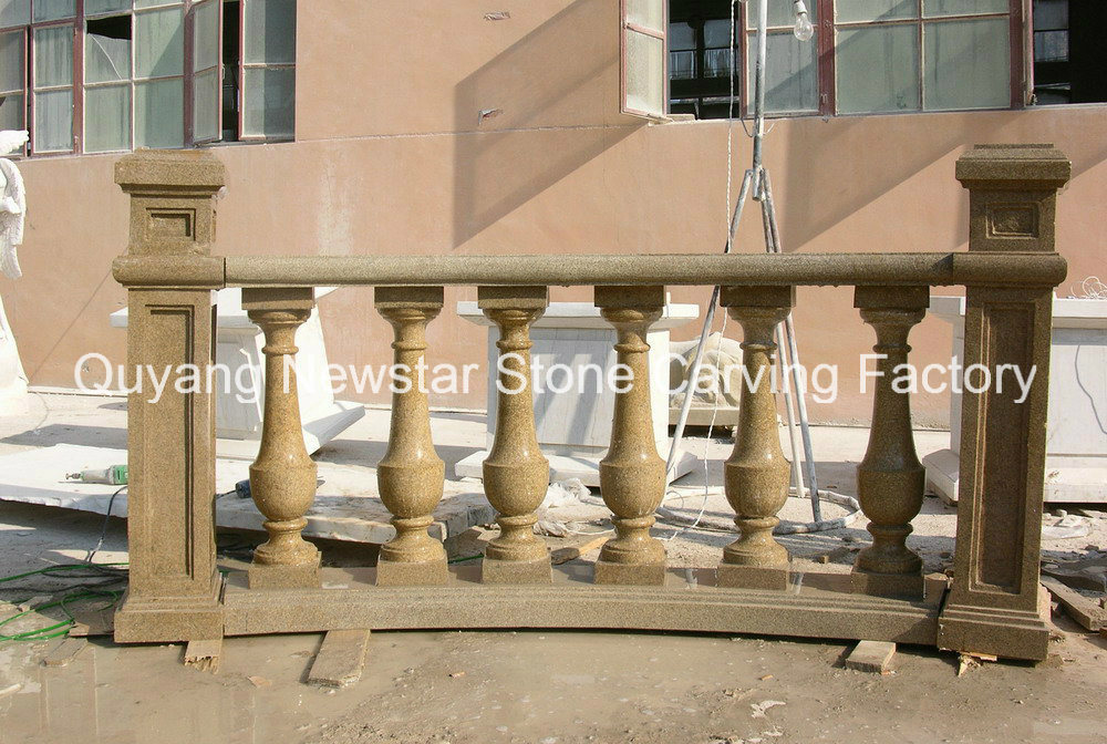 Marble Railing Handrail Stone Baluster Balustrade with Post