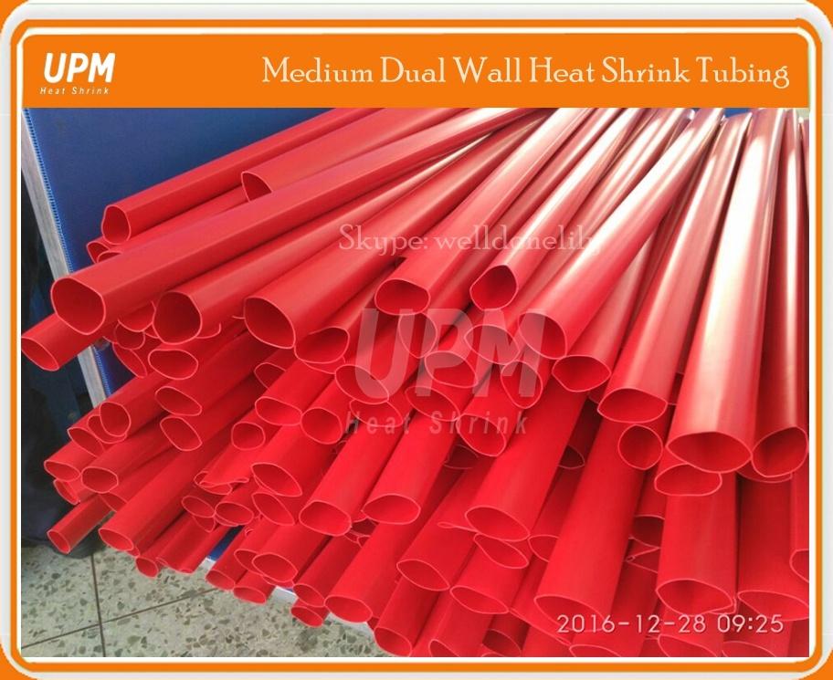 33/8 40/12 55/16 75/22 85/25 Medium Wall Red Heat Shrinkable Tubing