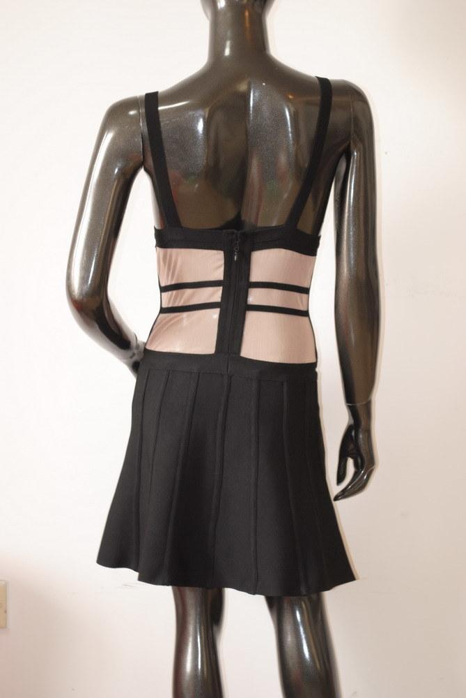 Short Gauze Keyhole Slip Night Club A-Line Dresses