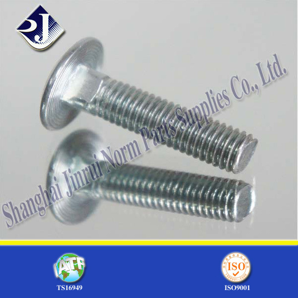 White Zinc Plated Elevator Bolt (carriage bolt)