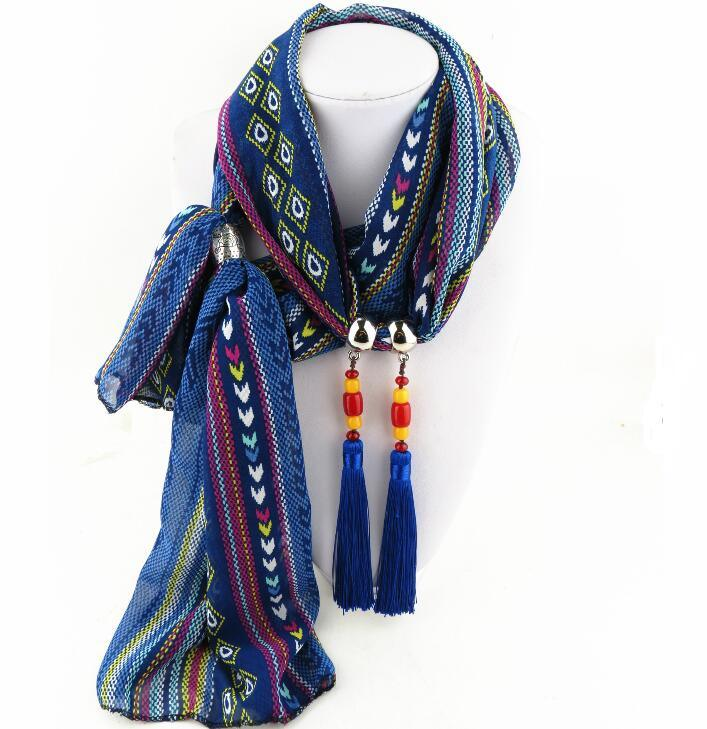 Jeweled Pendant Women′s Ladies Scarf Scarves Wrap Shawl
