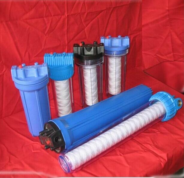Brass Thread Big Blue Water Filter Housing with Filter