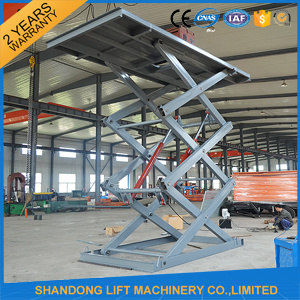 7.6m 3tons Hydraulic Scissor Electric Car Lift for Sale