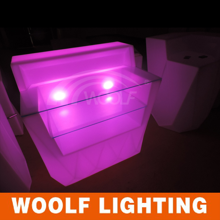 Modern Indoor and Outdoor Plastic Glow LED Bar Counter