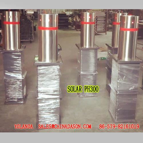 Semi-Automatic Bollard with Sollar Lights pH300-L