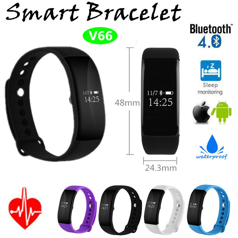 Sport Heart Rate Bluetooth Bracelet (V66)