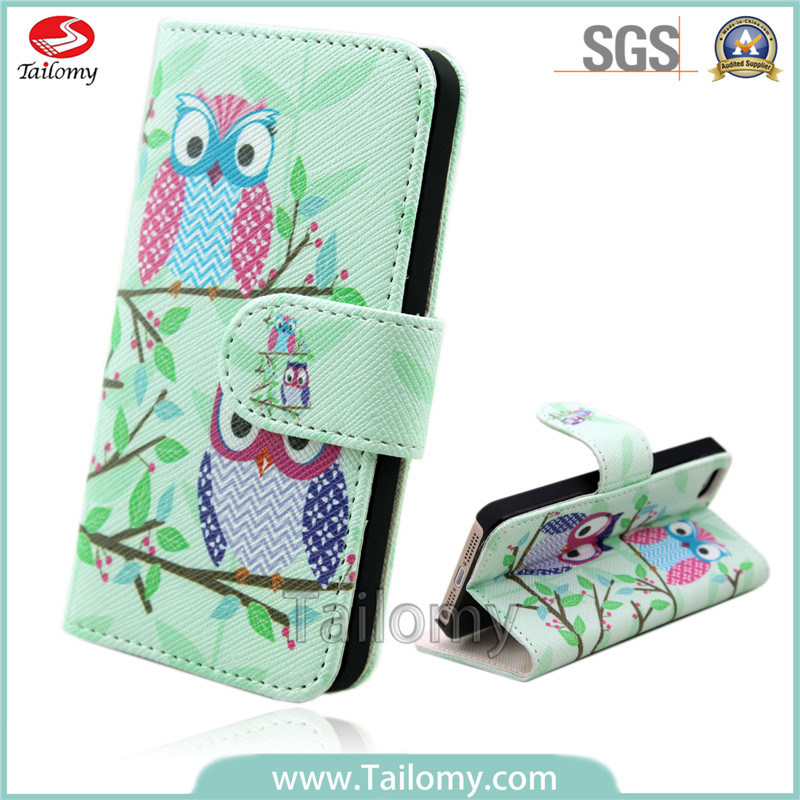 2014 Colorful Print Wallet Phone/Owl Case for iPhone 6