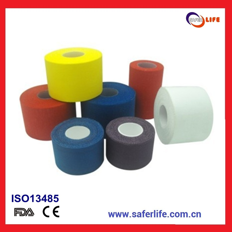 2014 Excellent Non Stretch Adhesive Zinc Oxide Cotton Sport Tape Bandage