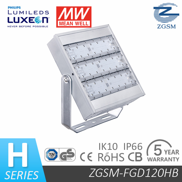 IP66 UL Listed 120W Outdoor LED Floodlight with 5 Years Warranty