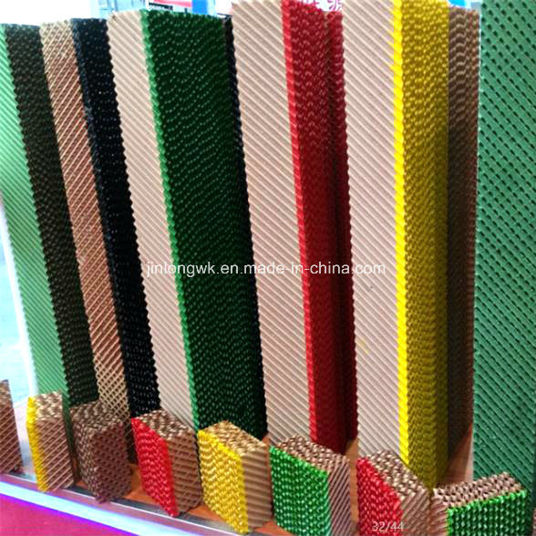 Hot Sale Brown Green Black Color Cooler Pad / Evaporative Cooling Pad From China Qingzhou