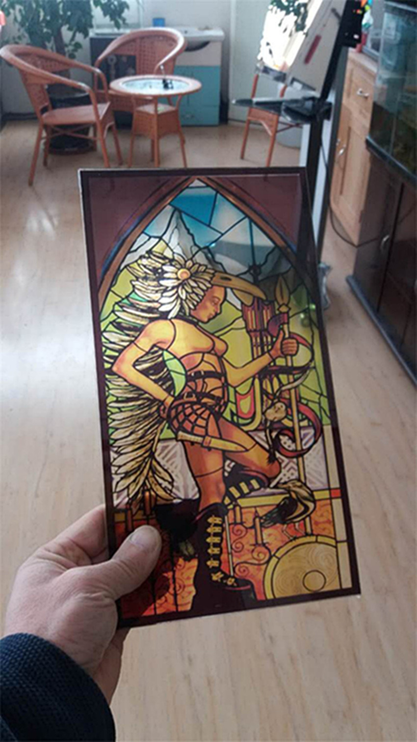 3mm Factory Church Stained Glass Tempered for Doors