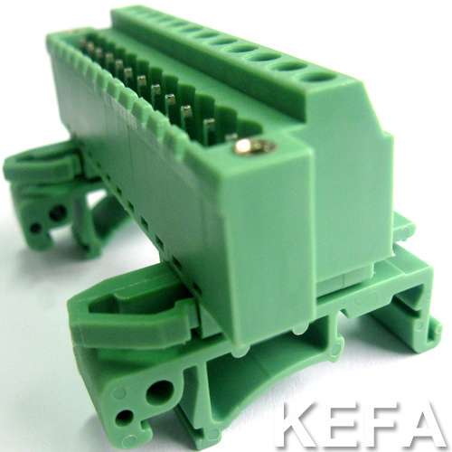 Plugable Terminal Block Connector with DIN Rail for Wire to Wire Connection
