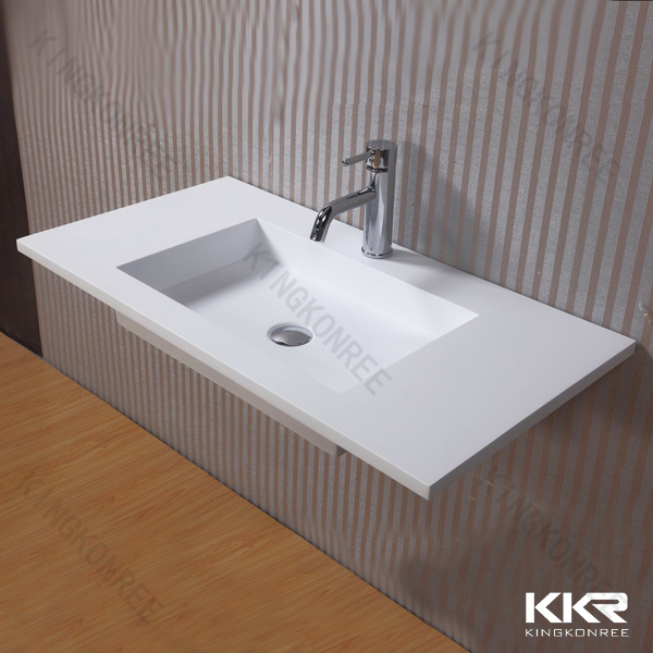 Hotel artificial stone solid surface vanity top with sink - Custom solid surface bathroom vanity tops ...