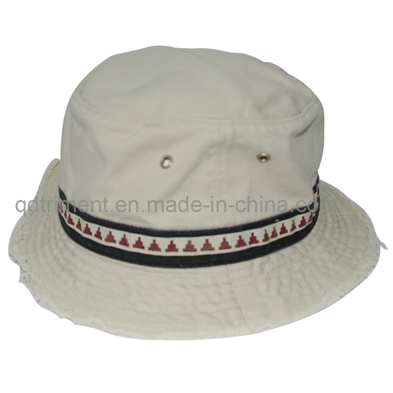 Washed Contrast Binding Twill Sport Fishing Bucket Hat (TRBH016)