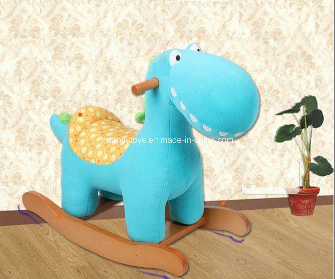 Factory Supply Rocking Horse Blue Dinosaur