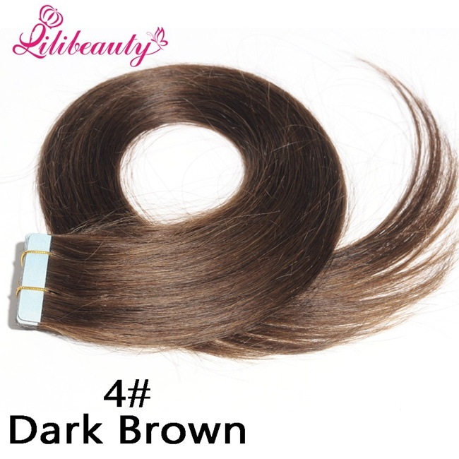 2016 Fashion Natural Brazilian Tape Hair Virgin Human Hair Extension