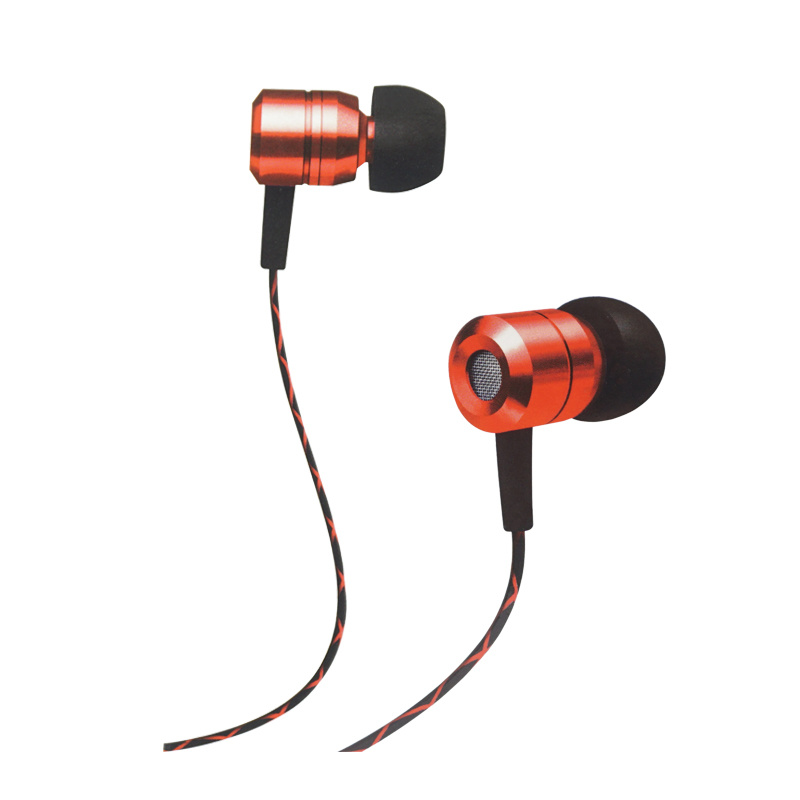 Wired 3.5mm Earphones Metal Case Earbuds for Computer & Mobile Phone