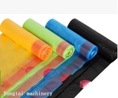 Cheap Price Draw String Ribbon Rolling Garbage Bag Making Machine