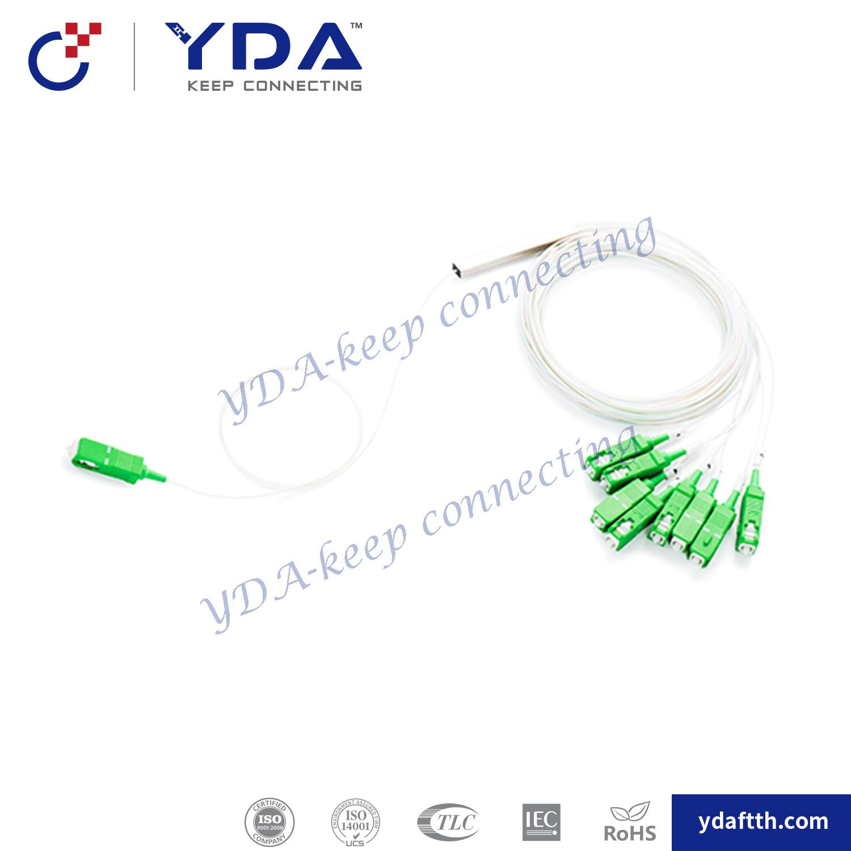 1X4 1X8 Fiber Optic PLC Splitter Mini Type PLC Splitter/Steel Tube PLC Splitter Cable Connector pictures & photos