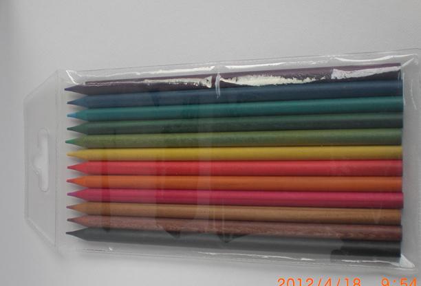 12 PCS Color Pencils with Color Wood